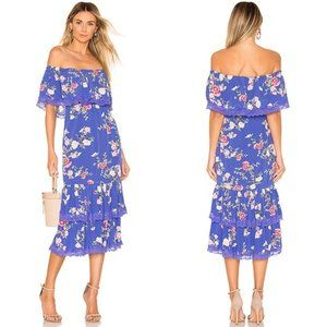 Lovers and Friends Elouise Floral OTS Midi Dress
